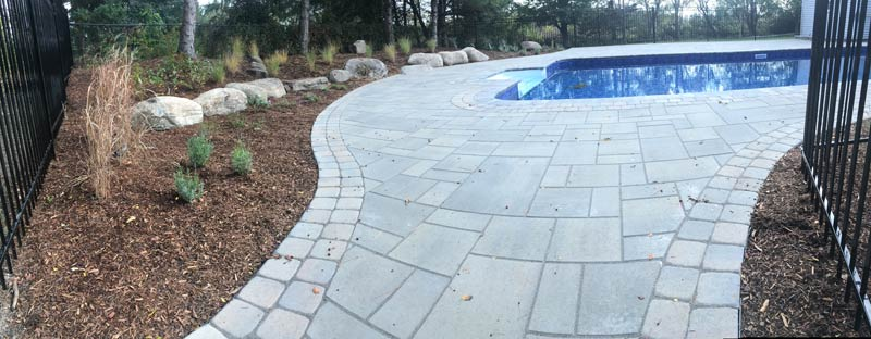 modern pool interlock trim